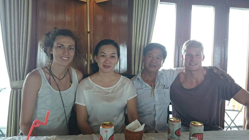 Group shot- Tegan, vietnamese couple and Dan