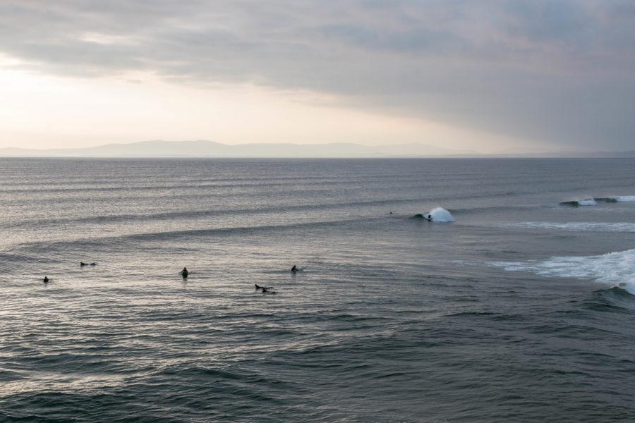 Surf at the beach break in Bundoran