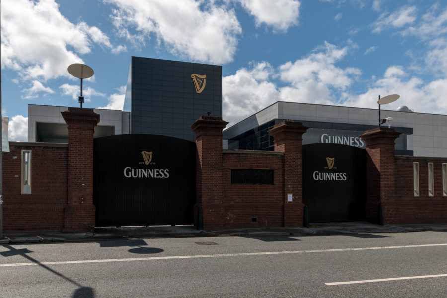 The guiness factory from the outside