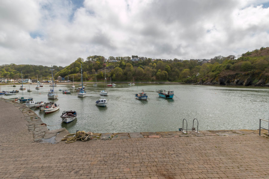 Boats parked up in the bay at Solva