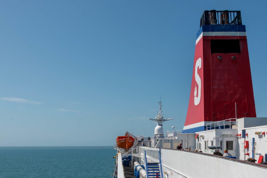 Side view of the ferry from Wales to Ireland
