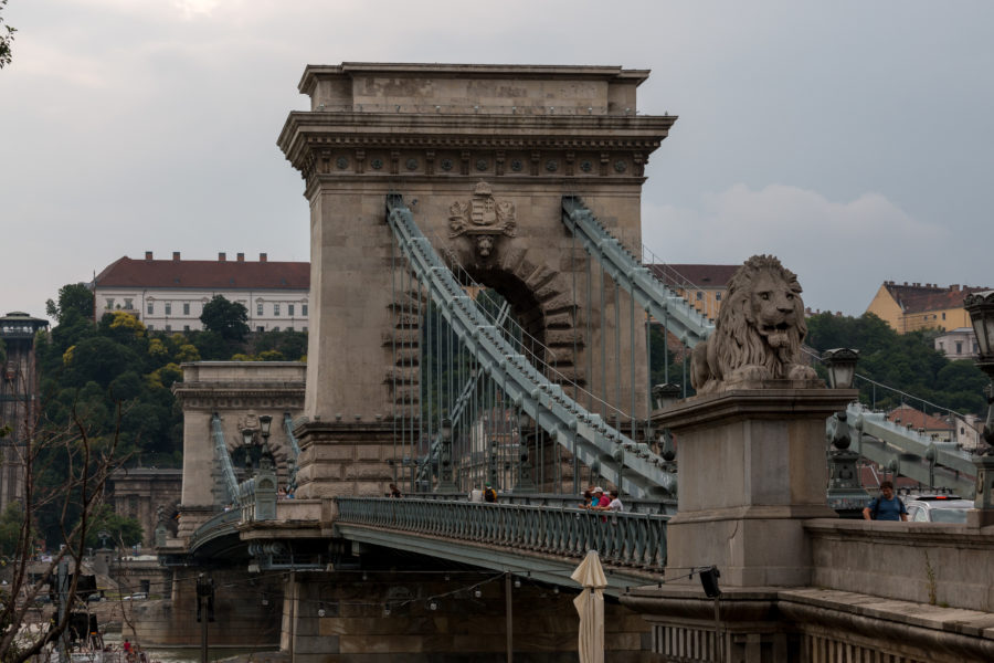 The chain bridge up close