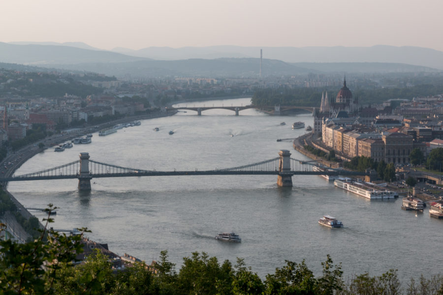 Liberty bridge connecting buda with pest