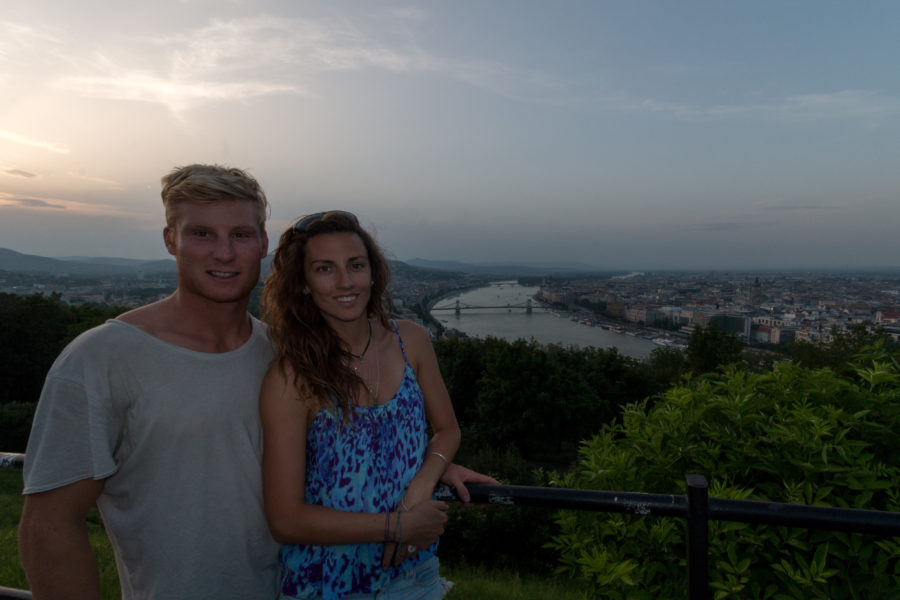 Couple shot with the river danube behind us