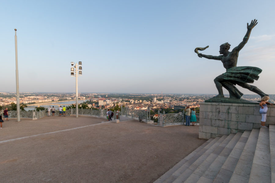 Statues at the citadella atop the hill
