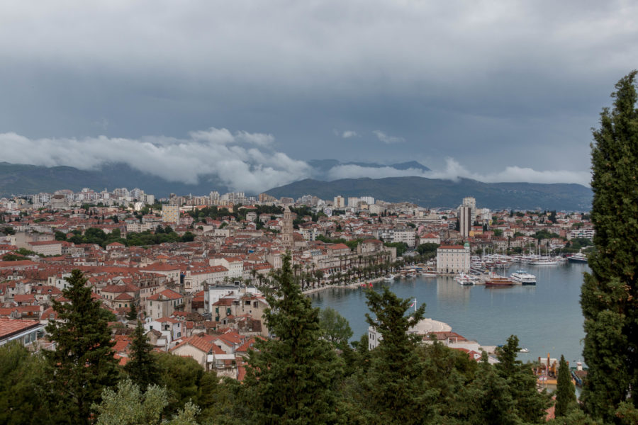 View over split, a lot of orange roofs!