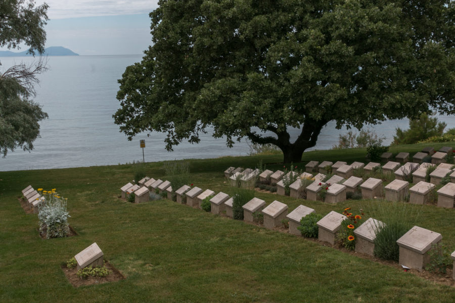 Tombstones at the beach cemetery