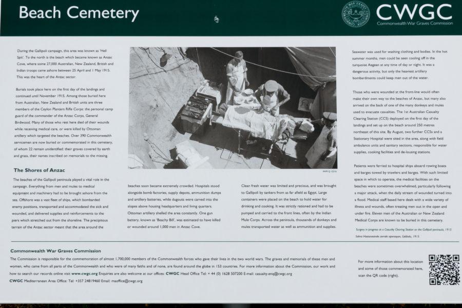 Beach cemetery information