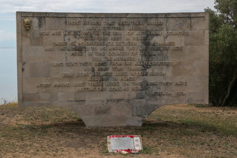 Ari Burnu name plaque