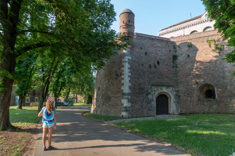 Walking around the fort