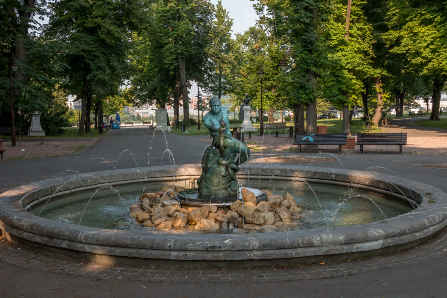 Water fountain in the park