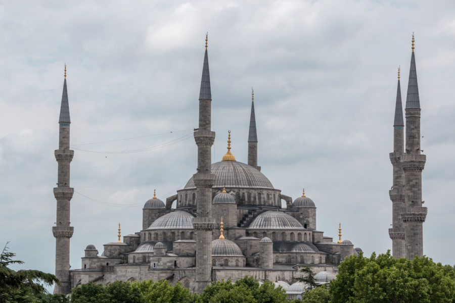 The blue mosque from the side