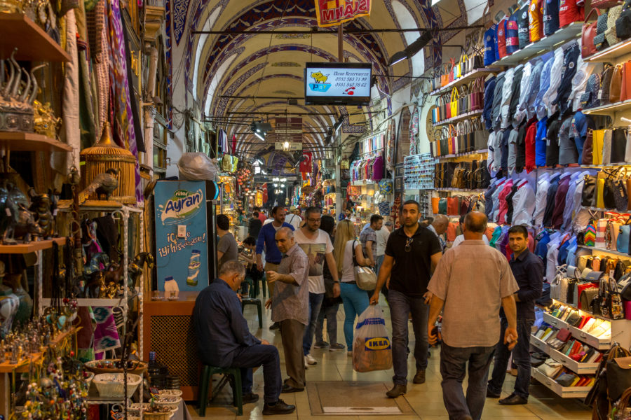 Walking through the colourful souks,