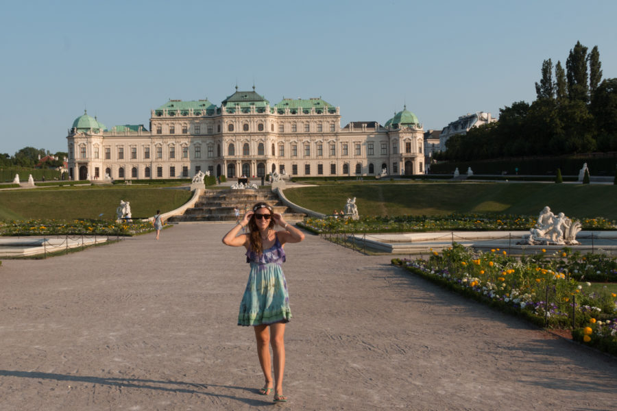 Tegan with Belvedere palace in the background