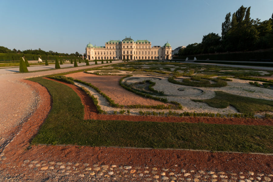 Extremely well maintained gardens of Belvedere Palace