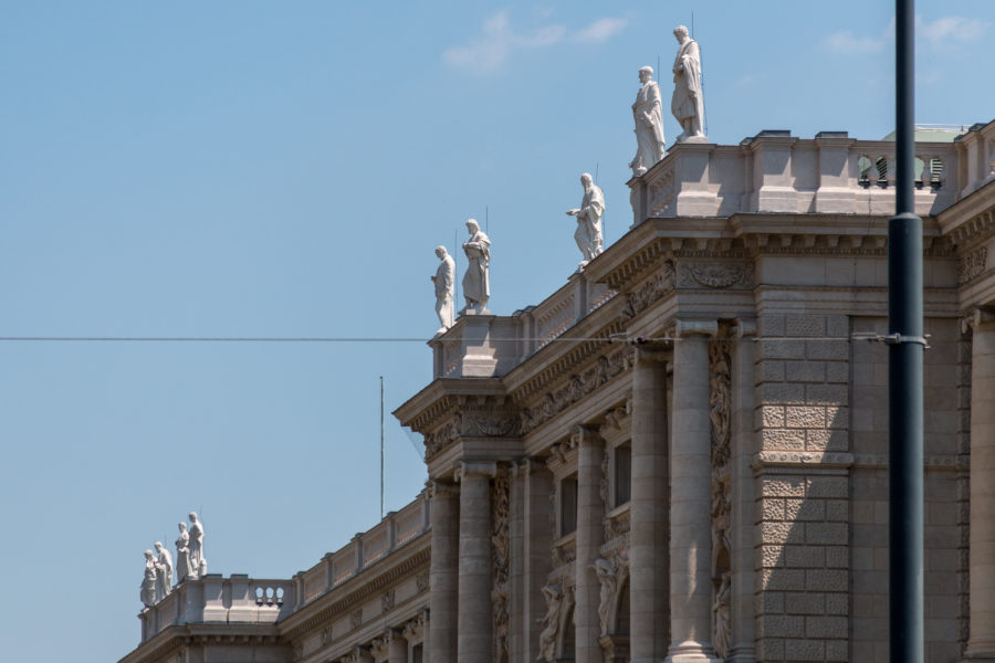 Statutes on the rooftops