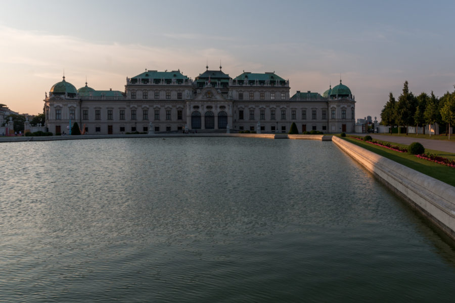 HUGE pond outside Belvedere Palace
