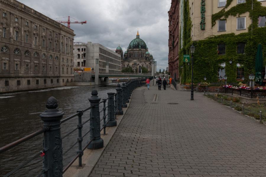 Cloudy skies while walking around Berlin