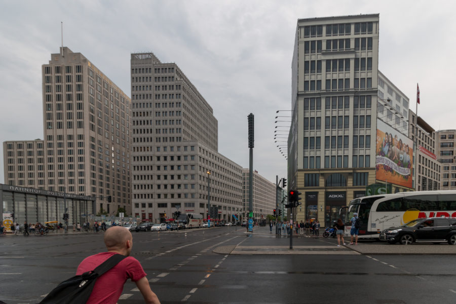 Uniform plain buildings of Berlin
