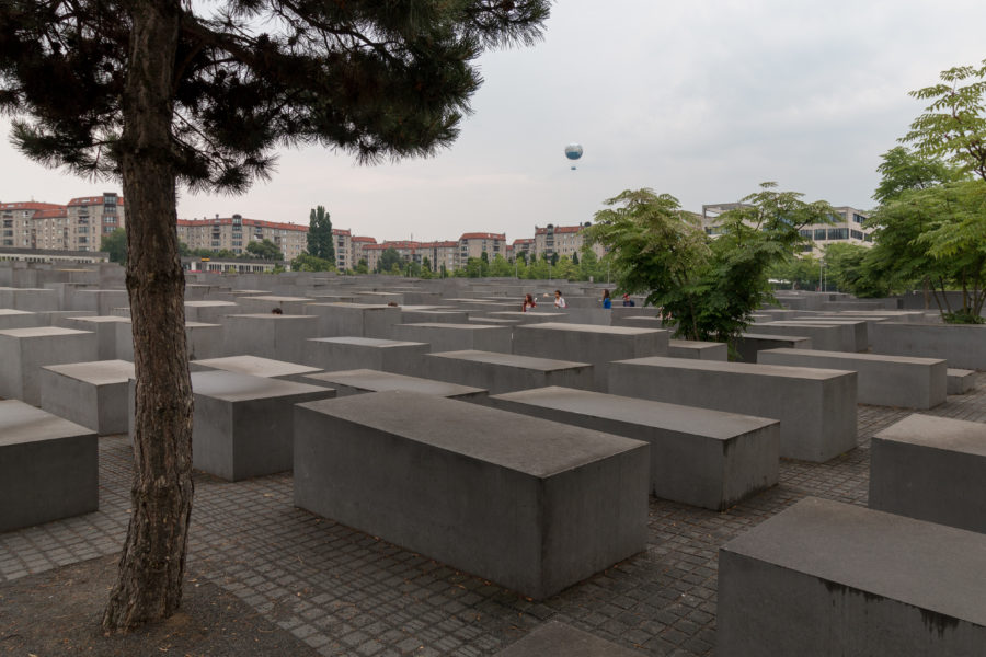 Wide angle view of the Holocaust