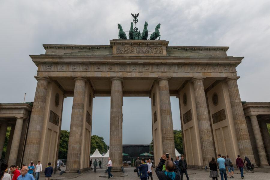 Brandenburg Gate, grey skies behind