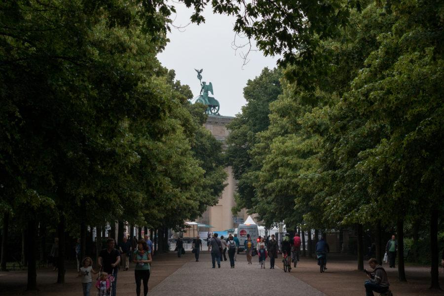 Tiergarten from amongst the trees