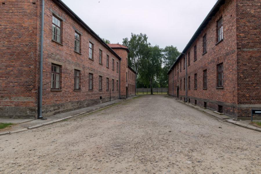 Barracks, grey gloomy skies