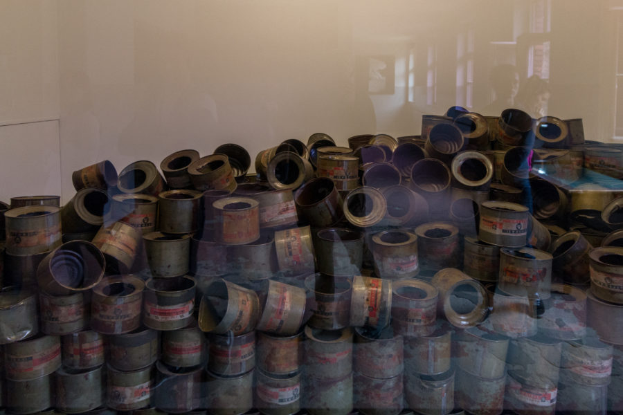 collection of the gas canisters used