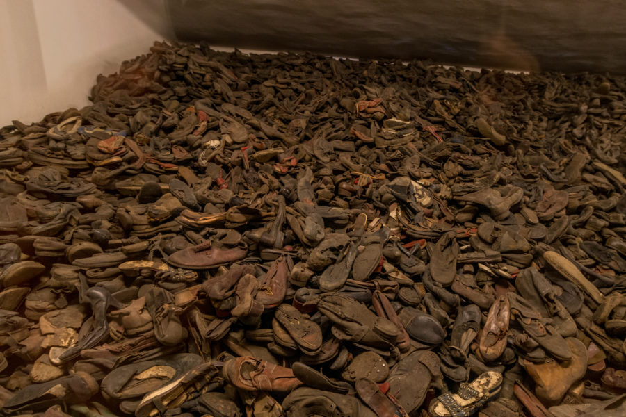 Thousands of shoes