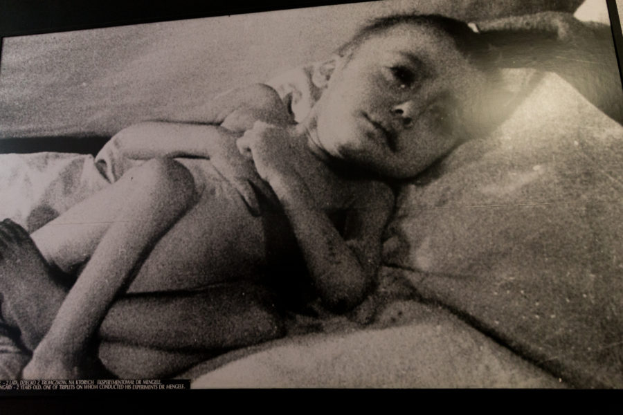Photo of a photo of a starving child