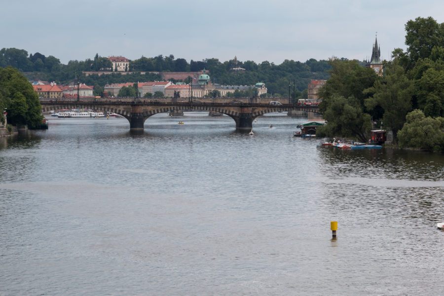 One of many bridges over the Vltava river