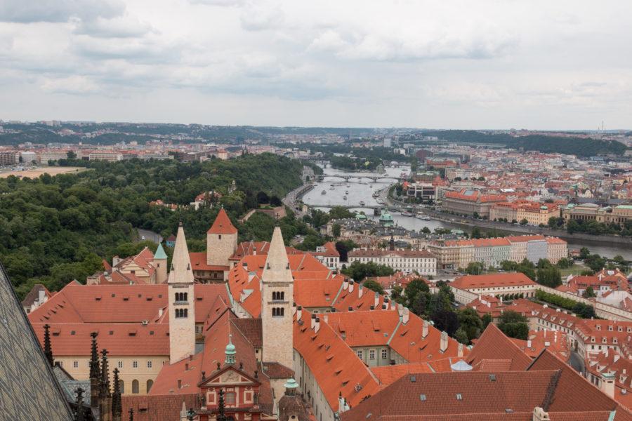 Looking over Prague