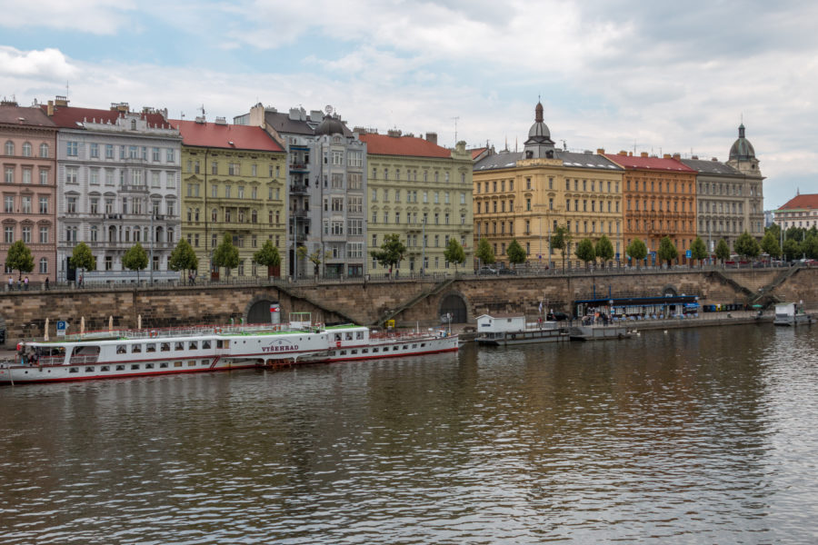 Colourful buildings on the river