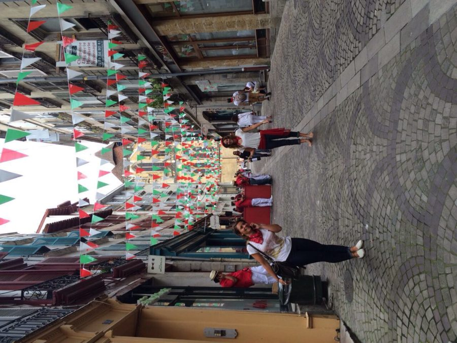 Walking down the colourful streets of Fete De Bayone