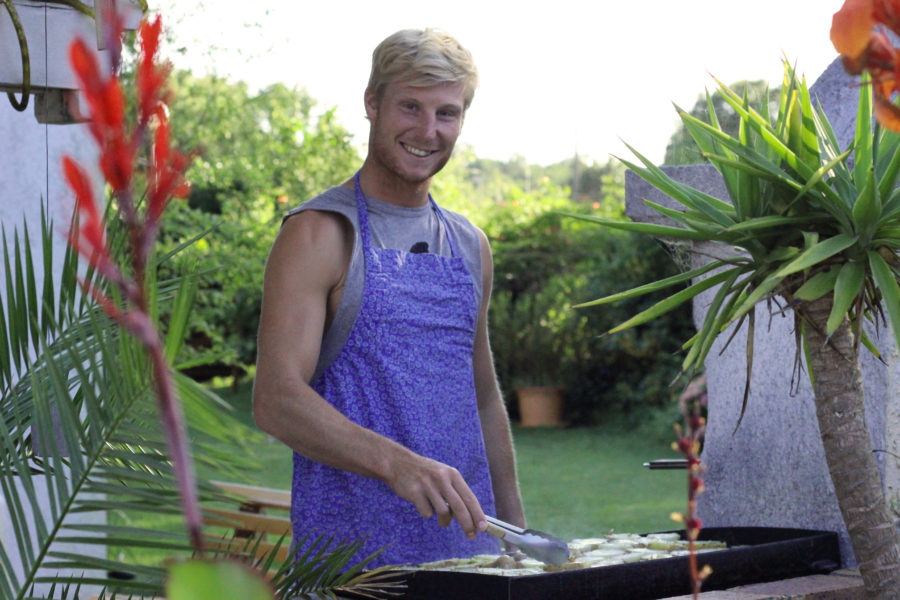 Master chef behind the bbq