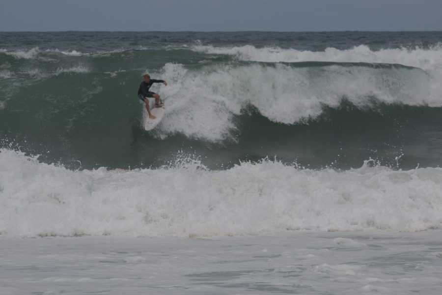 Daniel surfing the big swell