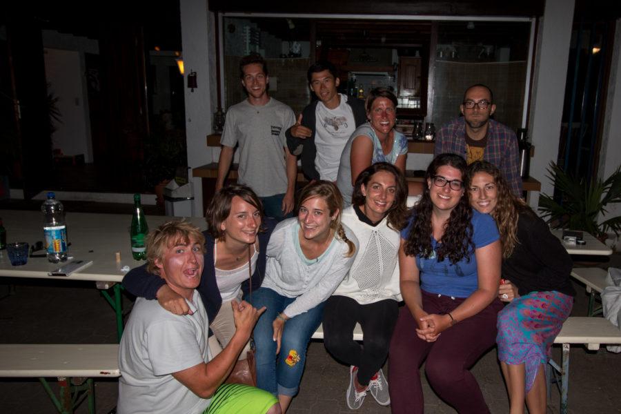 Group shot at the lodge