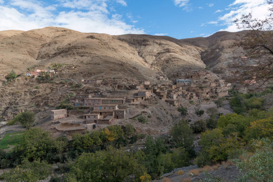 Casbah on the hills of the Atlas Mountains