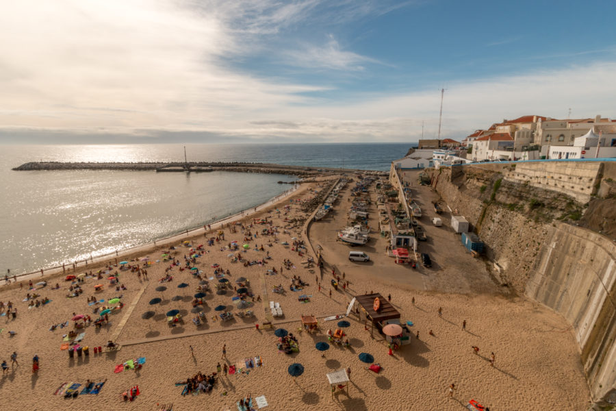 Overlooking the main beach of Ericeira