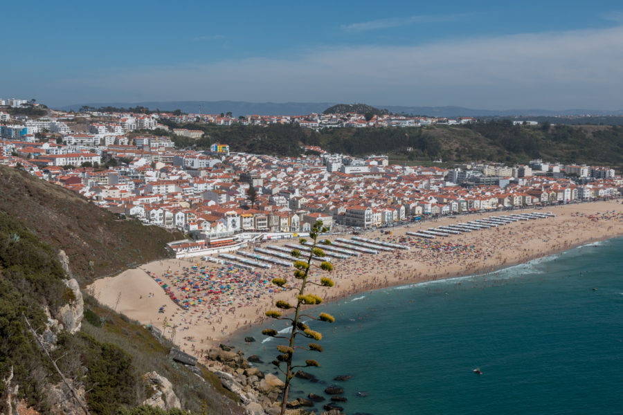 Another view of Nazare beach from above