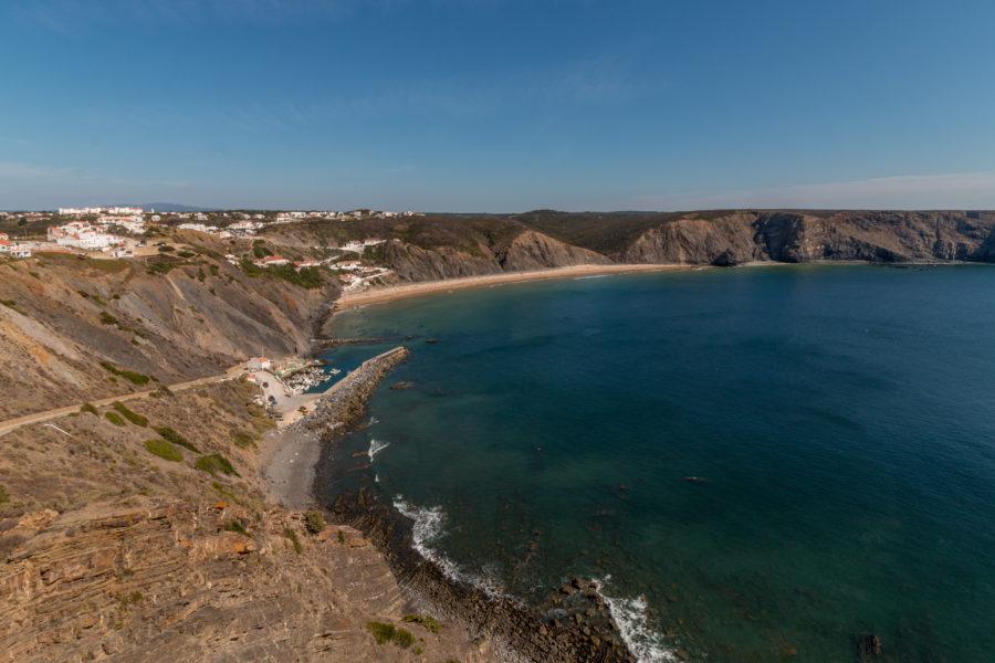 Cliffs overlooking the beautiful Ariffana beach