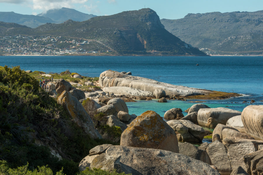 Blue water of simons town
