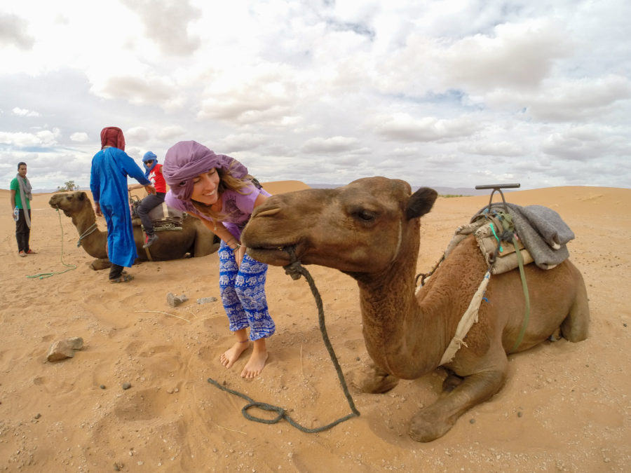 Tegs going in for the camel kiss