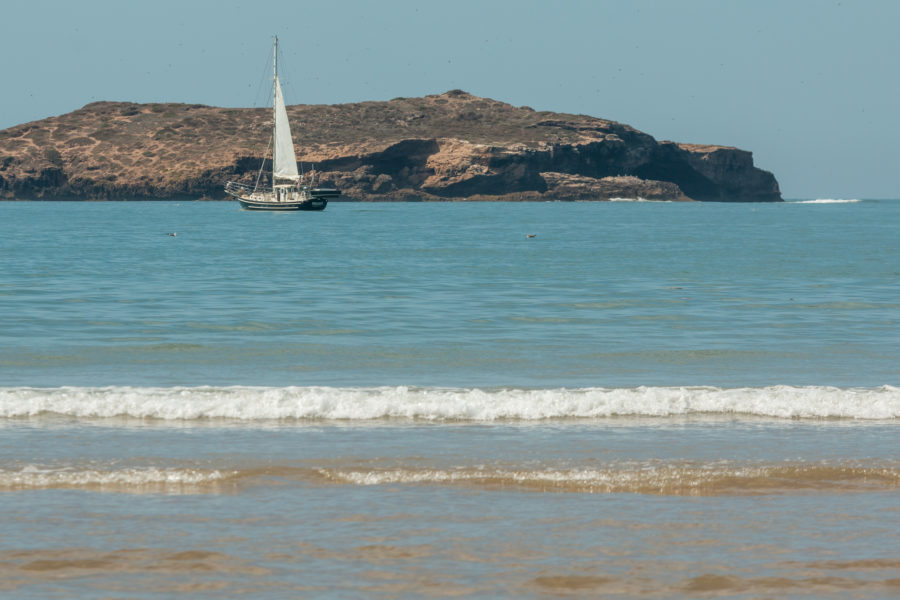 Yacht on the beach in Essaouira