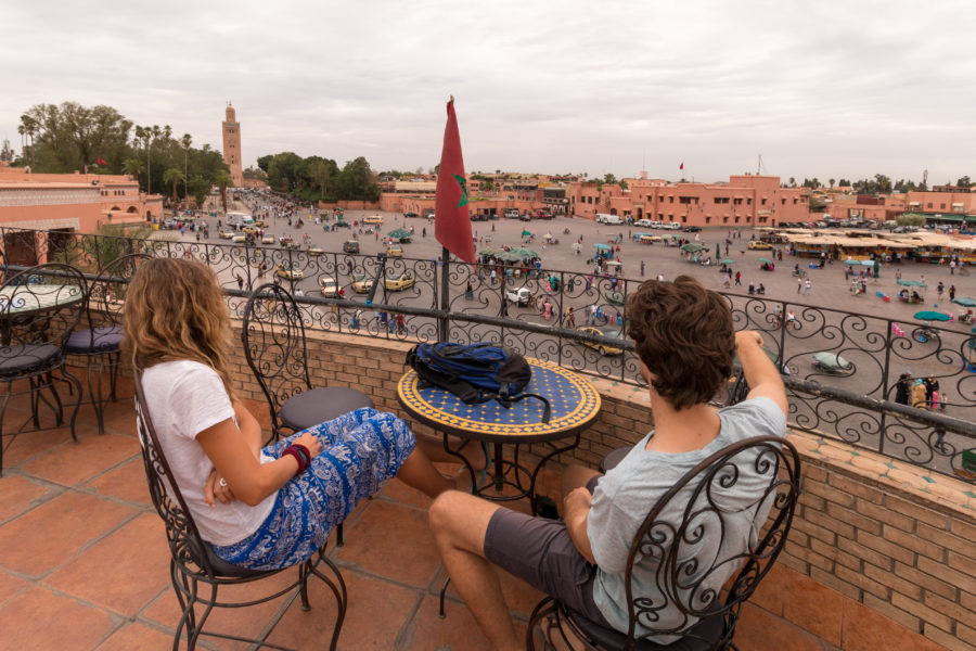 Tegs and Anthony looking over the medina