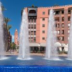 Waterfall in the shopping precinct in Marrakech