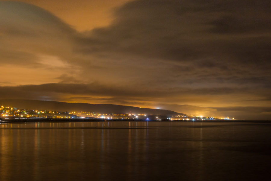 Lights in the distance of Agadir