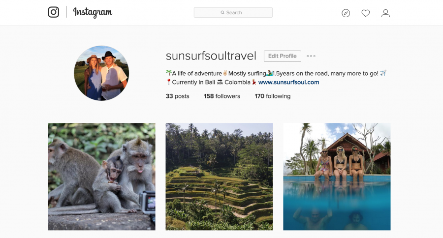Sun Surf Soul Instagram page