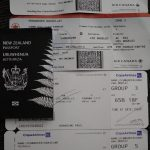 4 boarding passes and a NZ passport. The long journey to Colombia